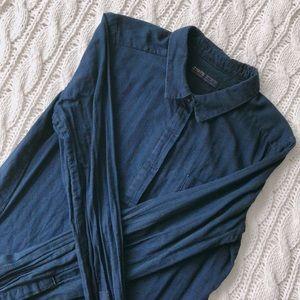 Zara striped button-up shirt